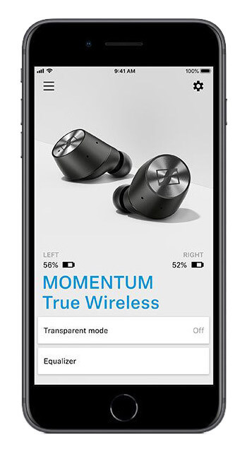 Sennheiser MOMENTUM True Wireless - Приложение Smart Control